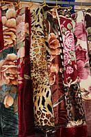 Акриловое плед-одеяло Евро размера розовые цветы