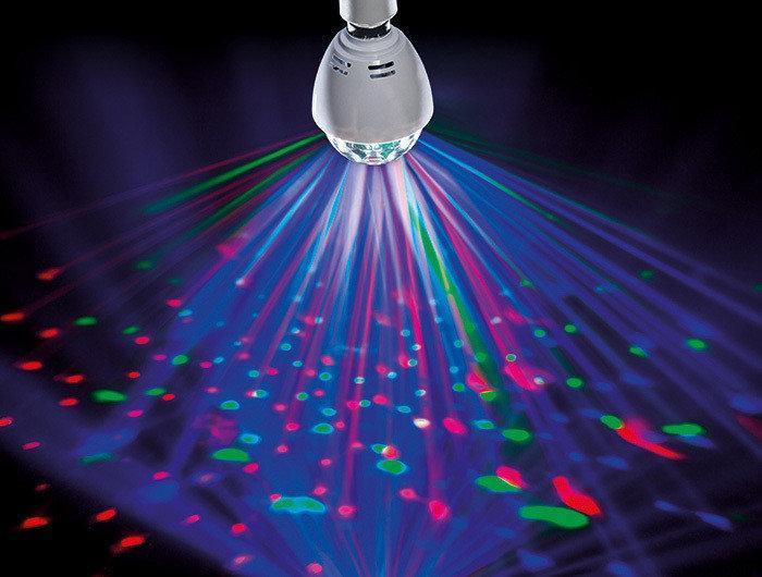 Диско лампа (RD-7209), Светодиодная лампа со светомузыкой, Ламочка диско для вечеринок, Лампа для дискотеки