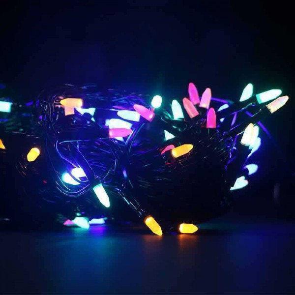 Гирлянда зерно 100LED 9м Микс (RD-7165), Электрическая гирлянда, Светодиодная гирлянда, Огни разноцветные