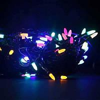 Гирлянда зерно 100LED 9м Микс (RD-7165), Электрическая гирлянда, Светодиодная гирлянда, Огни разноцветные, фото 1