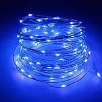 Медная проволочная лампа 10м (контрол.220V) Синий (RD-7107), Проволочная гирлянда, Новогодняя гирлянда