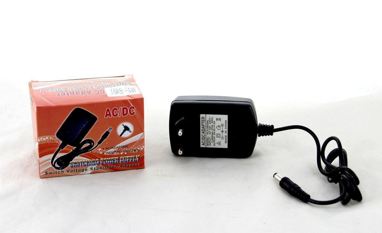 Адаптер 6V 2A  (разъём 5.5*2.5mm), Зарядное устройство, Блок питания для зарядки, Подзарядка от сети