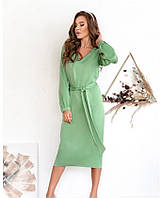 Женское платье из шелка миди