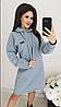 Теплое платье свободного кроя на флиссе с Капюшоном