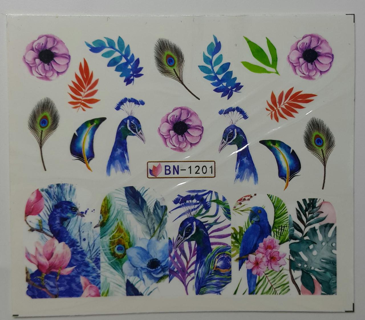 Наклейка для ногтей BN-1201
