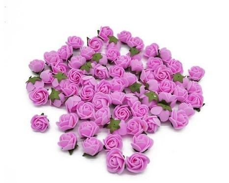 Набор розовых цветочков для декора - 48-50шт. (размер одного цветка 2см)