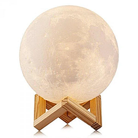 Ночник Луна Moon lamp 13 см, Светильник ночник Луна, Лунный светильник, Декоративный светильник шар, фото 1