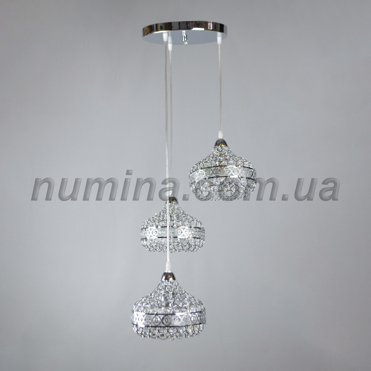 Люстра подвесная на три лампы 3-E1536/3H CR