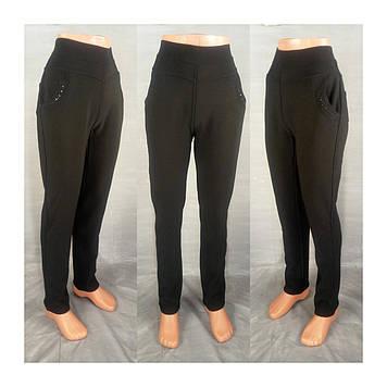 Леггинсы  брюки термо на меху черные размер