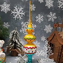 Набор стеклянных елочных игрушек и верхушка на елку Irena, фото 3