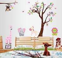 """Виниловые детские наклейки на стену """"Зверята"""""""