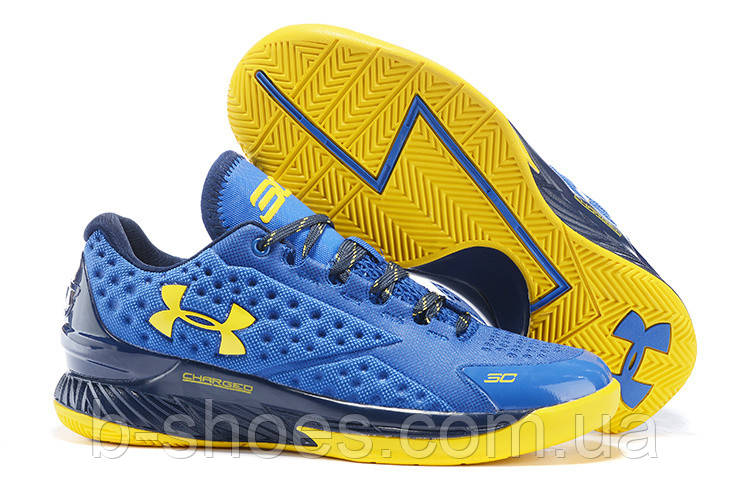 ... фото Мужские кроссовки UNDER ARMOUR CHARGED FOAM CURRY 1 Low  (Blue Yellow) 025085477374