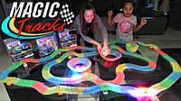 Magic Tracks 360V/2 машинки, Конструктор автотрек, Гибкая гоночная трасса, Детский светящийся гибкий трек