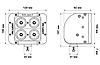 """Светодиодная балка ProLight DUAL 5"""" 40Вт (направленный луч), фото 10"""