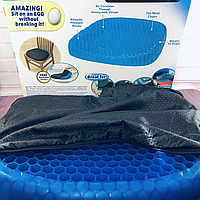 Подушка egg sitter, Ортопедическая подушка, Гелиевая подушка для стула, Подушка для сидения, Массажная подушка, фото 1