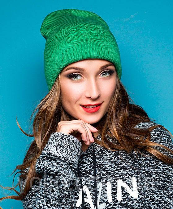 Зимняя вязаная шапка бини Ney York