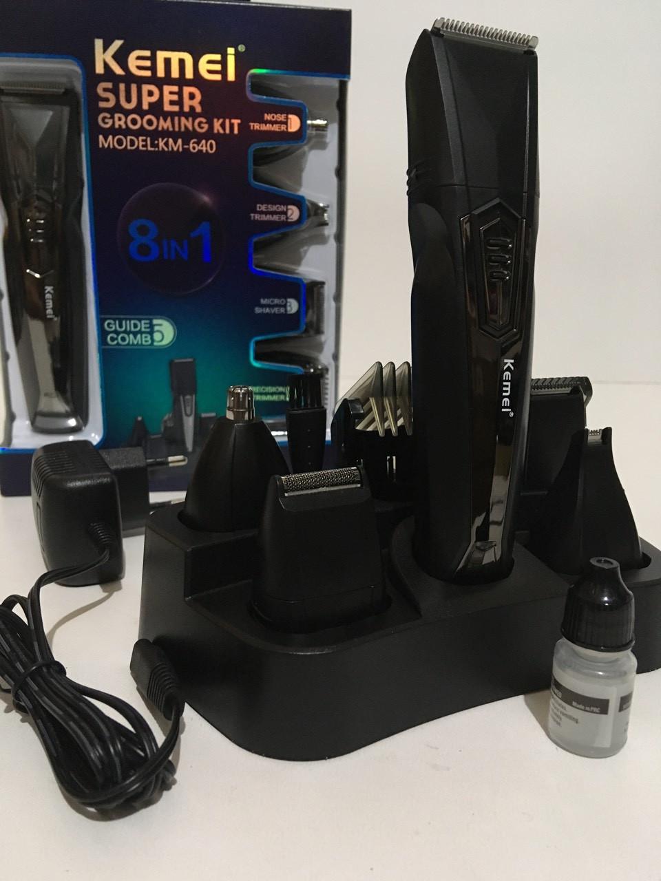 Машинка для стрижки волос 8 В1 KEMEI KM-640 (40шт/ящ)