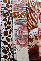 Акриловое плед-одеяло Евро стандарта с цветочками