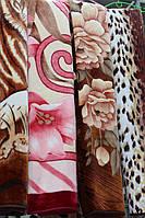 Акриловое плед-одеяло Евро стандарта цветы