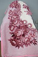 Акрилове плед-одіяло Євро розміру рожеве