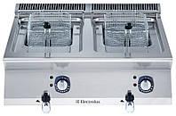 Фритюрница электрическая верхнего расположения, 12+12 л две ванны, наружный  нагревательный элемент