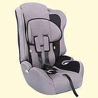 Детское автокресло ZLATEK Atlantic серый 1-12лет 9-36кг категория 1-2-3