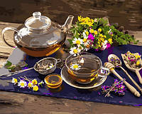 Картина по номерам Чай с цветочным медом 40 х 50 см (с коробкой)