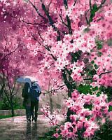 Картина по номерам Сакура под дождем 40 х 50 см (с коробкой), фото 1