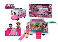 Набор с куклами ТМ 855 В Автобус, 2 куклы, аксессуары