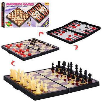 Шахматы магнитные 3в1 LEON 9831 (шашки, нарды)