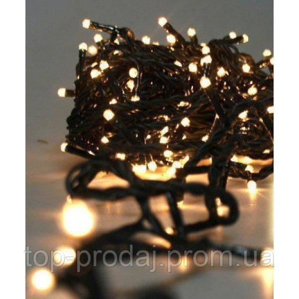 Гирлянда 100LED (ЧП) 9м Теплый (RD-7129), Новогодняя светодиодная гирлянда, Яркая гирлянда праздничная