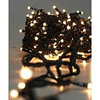 Гирлянда 100LED (ЧП) 9м Теплый (RD-7129), Новогодняя светодиодная гирлянда, Яркая гирлянда праздничная, фото 1