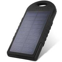 Внешний портативный аккумулятор Solar на 12000 мач, 2A with Led Silver