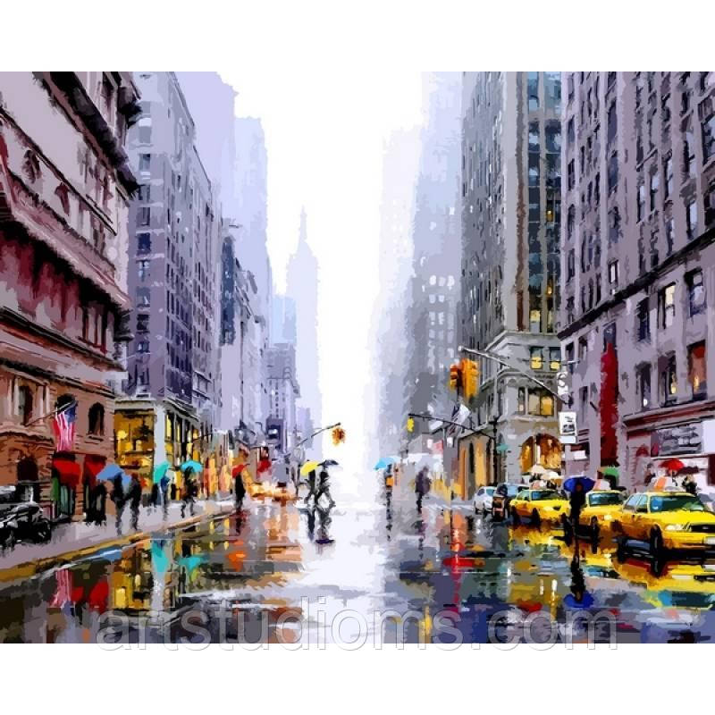 Картина по номерам Зима в Нью-Йорке 40 х 50 см (с коробкой)