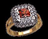 Золотое кольцо Квадрат, фото 3