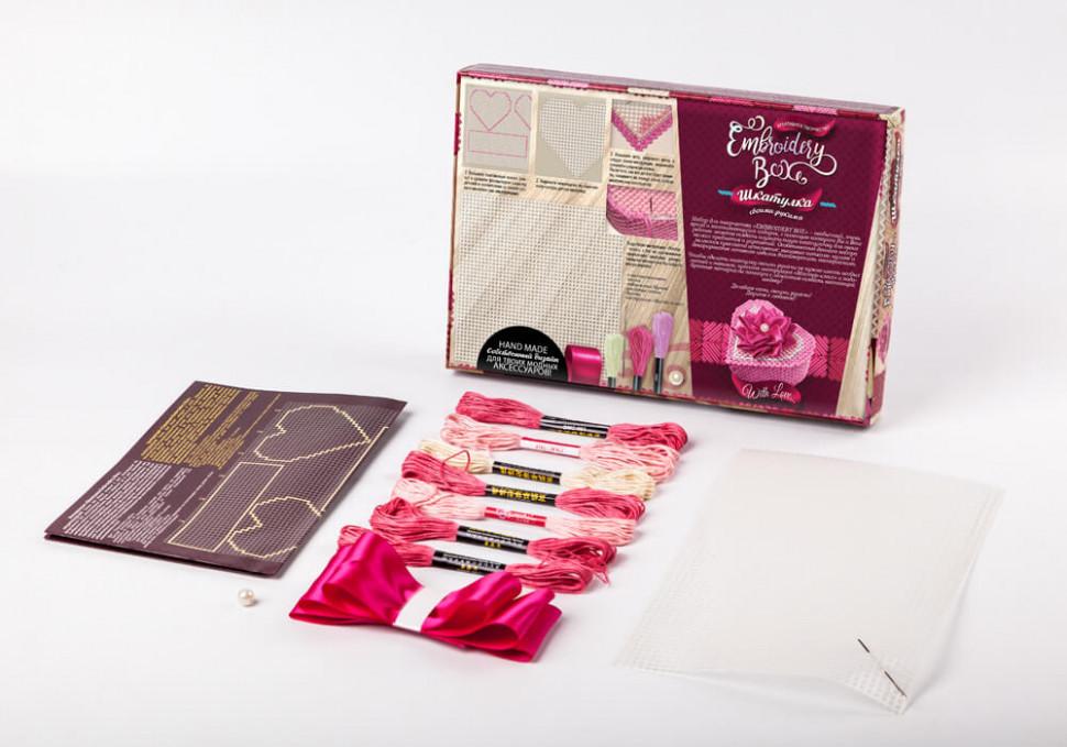 """Комплект креативного творчества """"Шкатулка Embroidery Box"""" 6592DT, развивающая игрушка, подарок ребенку"""