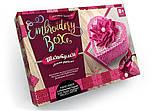 "Комплект креативного творчества ""Шкатулка Embroidery Box"" 6592DT, развивающая игрушка, подарок ребенку, фото 2"
