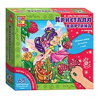 Набор для творчества Кристалл картина (Фея) VT4010-04 (рус), развивающая игрушка, подарок ребенку