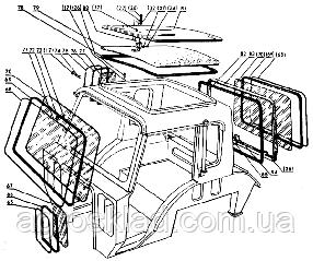 Стекло переднего окна Т-40