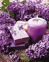 Картина по номерам Лавандовая свеча 40 х 50 см (с коробкой)