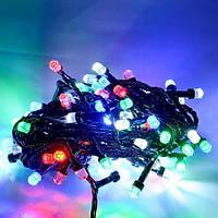 Гирлянда кристал двухцветная лампа 100LED 9м Микс (RD-7158), Электронная гирлянда, Новогоднее украшение, фото 1