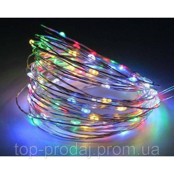 Медная проволочная лампа 10м (контрол.220V) Микс (RD-7106), Гирлянда проволочная, Новогодняя гирлянда