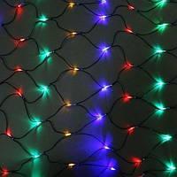Сетка 200LED 2x2м Микс (RD-7163), Светодиодная гирлянда-сетка, Новогодняя разноцветная гирлянда на окно, фото 1