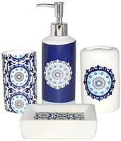 """Набор аксессуаров """"Восток"""" для ванной комнаты 4 предмета, керамика"""