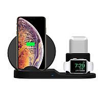 Док станция wireless fast charger 3in1, Зарядная станция, Аккумулятор для гаджетов, Беспроводная зарядка