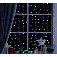 Гирлянда прозрачный шарик 28LED 5м (флеш) 10мм RGB (RD-7101), Новогодняя гирлянда из шариков
