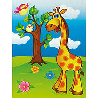 """Роспись по холсту """"Весёлый жирафик"""" 18*24 7100/1, развивающая игрушка, подарок ребенку"""