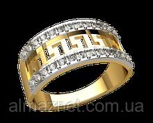 Золотое кольцо с накладкой Версаче