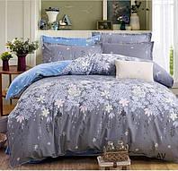 Семейное постельное белье GOLD цветы на сером