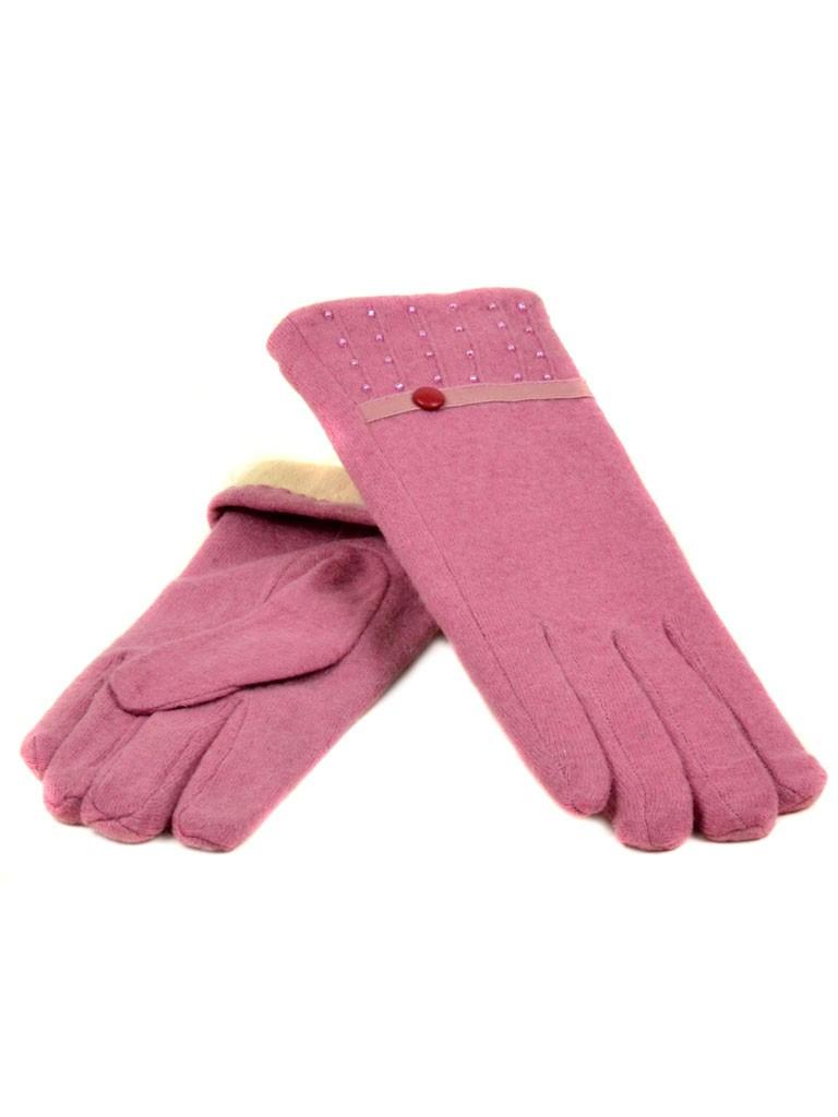 PODIUM Перчатка Женская кашемир (ПЛ)д F12 мод5 роз Распродажа